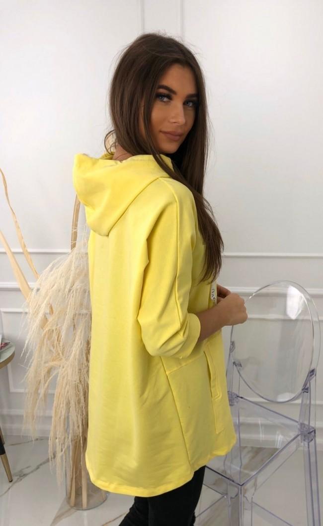 Bluza z tasiemkami z nadrukiem 2103_żółty