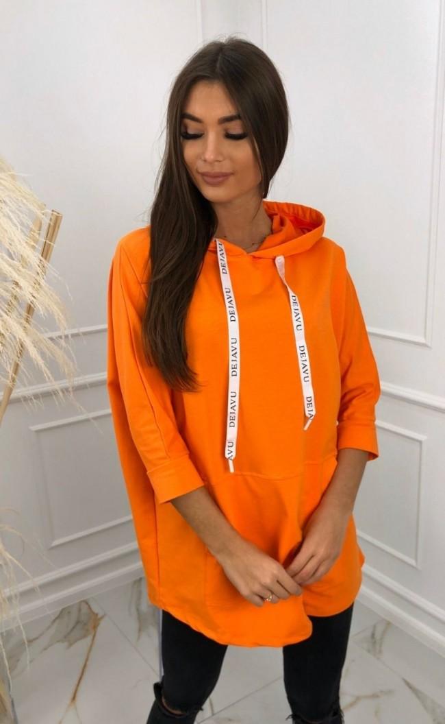 Bluza z tasiemkami z nadrukiem 2103_pomarańczowy