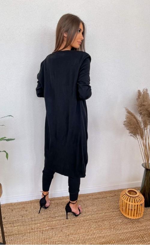 Komplet sweterkowy trzyczęściowy 011 czarny