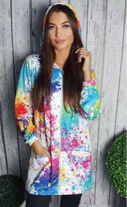 Bluza multicolor 1849 Biała