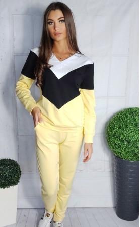 Komplet dresowy żółto-czarny TI 677