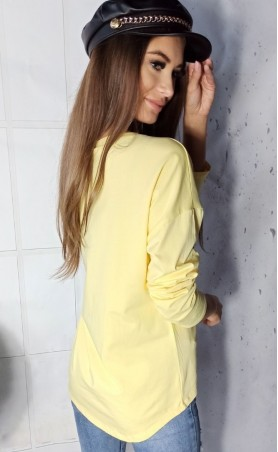 Bluzka z aplikacją żółta TK 619
