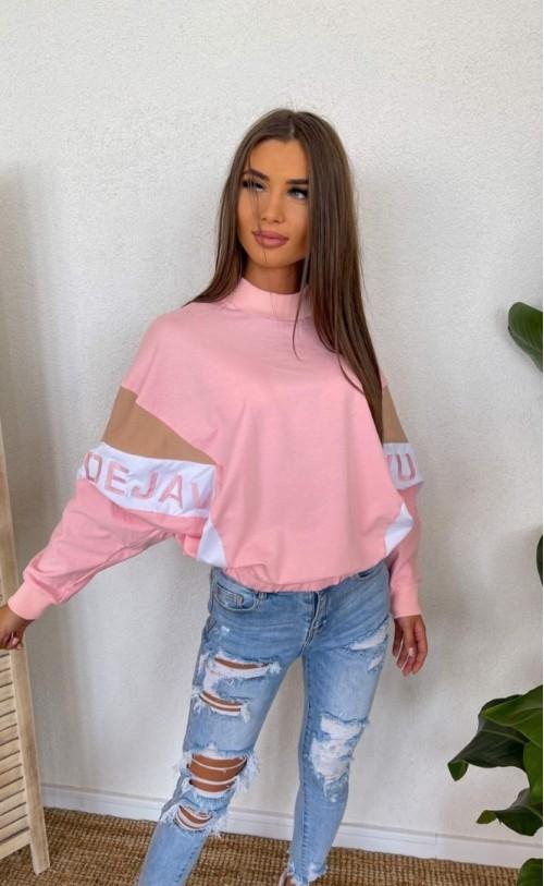 Bluza lata '80 TI 823 Różowa