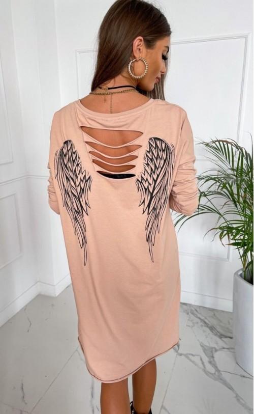 Sukienka Angel TK 782 Beżowa