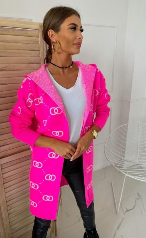 Sweter 1115 Neonowy Róż
