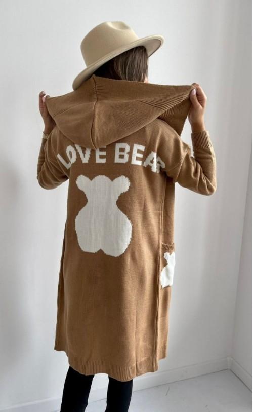 Kardigan Love Bear Beżowy