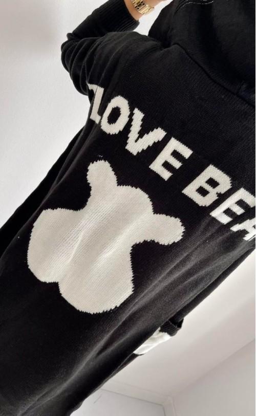 Kardigan Love Bear Czarny