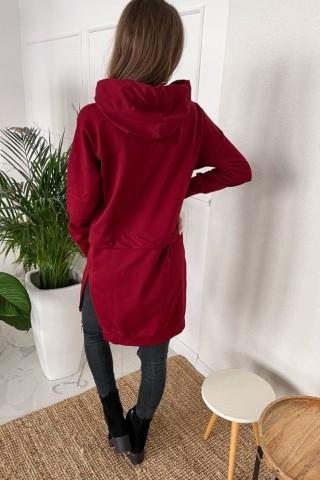 Bluza z trokami TI 884 Bordowa