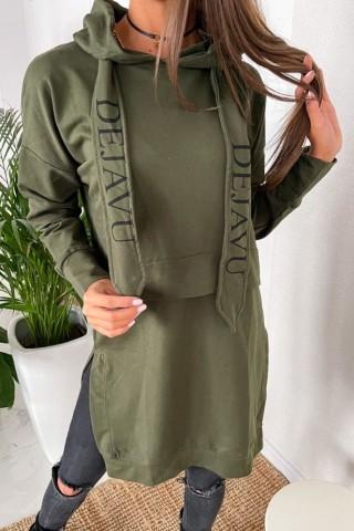 Bluza z trokami TI 884 Khaki