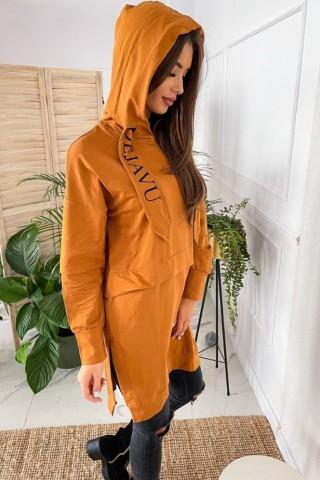 Bluza z trokami TI 884 Camel